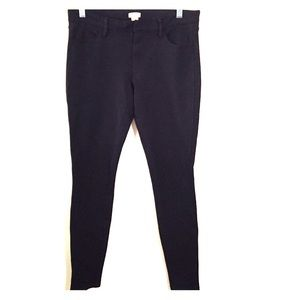 J.Crew black stretch skinny pants jeggings
